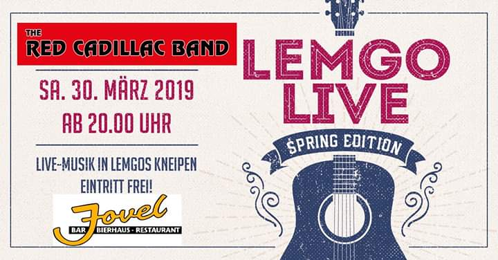 Red Cadillac Band am 30.03.2019 bei LEMGO LIVE dabei