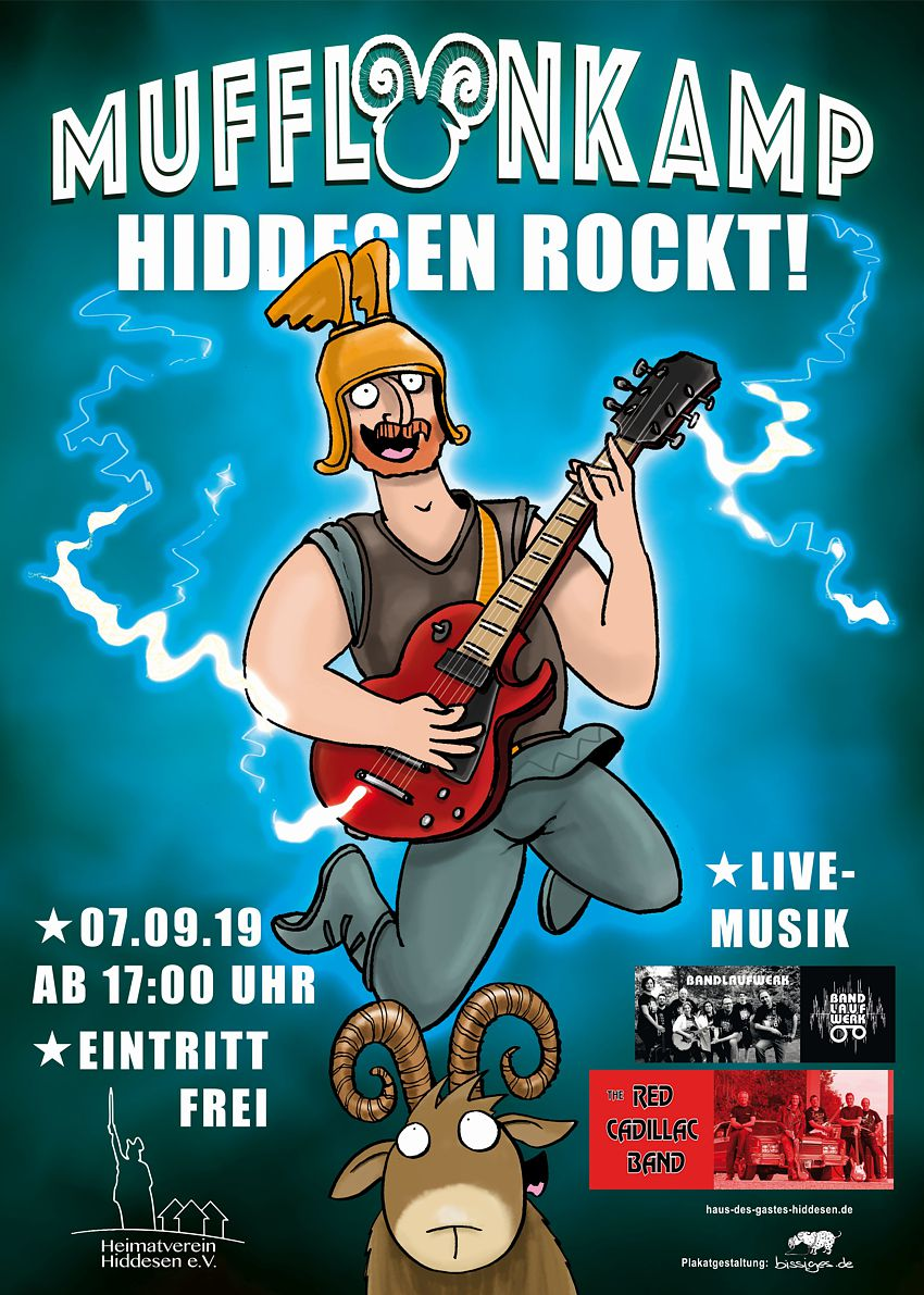 THE READ CADILLAC BAND auf der Mufflonkamp-Party am 7. September 2019